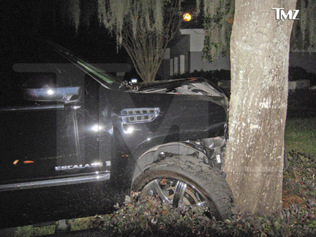 Tiger Woods Car Crash Pictures