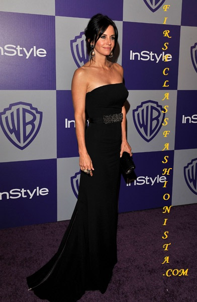 Courtney Cox Golden Globe Awards Dress