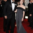 Julianne Moore and Tom Ford on the Red Carpet of the 2010 Golden Globe Awards. Julianne Moore's red carpet hairstyle and dress at the 67th Annual Golden Globe Awards held...