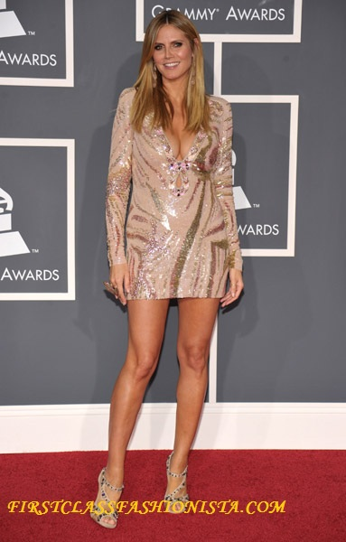 Heidi Klum Grammy Awards Dress