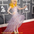 "Lady Gaga on the Red Carpet of the 2010 Grammy Awards. Lady Gaga's red carpet hairstyle and dress at the 52nd Annual ""Grammy Awards"" held at Staples Center in Los..."