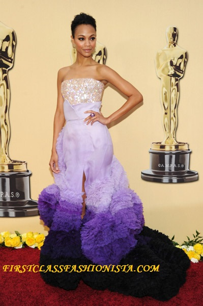 Zoe Saldana on the Red Carpet of the Academy Awards
