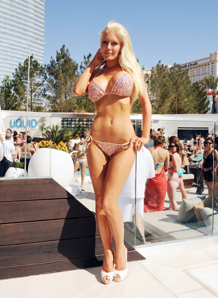 Heidi Montag at Aria Las Vegas Pool