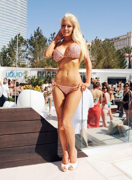 Heidi Montag at Aria Las Vegas Pool