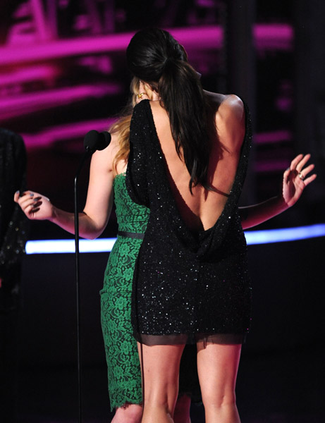 Sandra Bullock and Scarlett Johansson Kiss