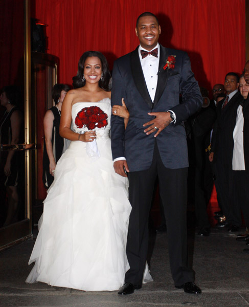 carmelo anthony and lala vasquez wedding photos