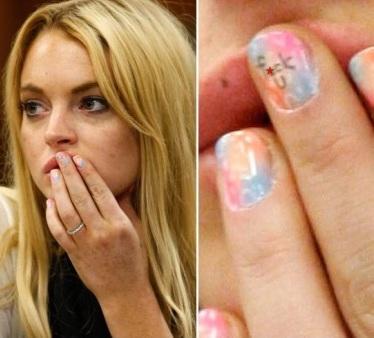 bad word in lindsay lohan nail polish