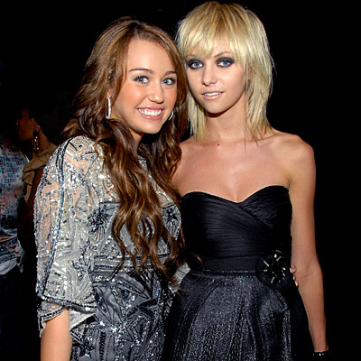 Miley Cyrus Taylor Momsen Together