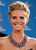 Heidi Klum Hairstyle at Emmy Awards
