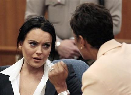 Lindsay Lohan and Lawyer