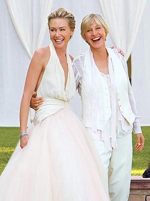 Ellen DeGeneres Wedding Picture
