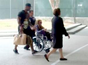 Mariah Carey in a Wheelchair
