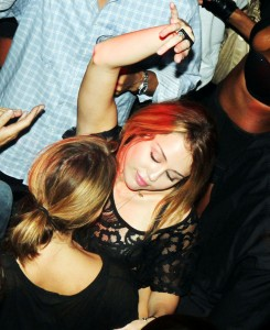 Miley Cyrus and Ashley Greene at the Club