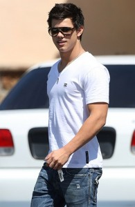 Taylor Lautner in a T Shirt