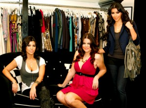 Kourtney Khloe Kim Kardashian at DASH