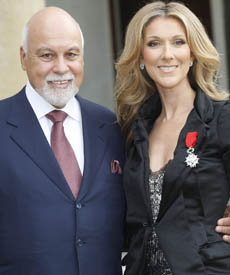 Celine Dion and Husband Rene Angelil