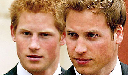 Prince William and Brother Harry