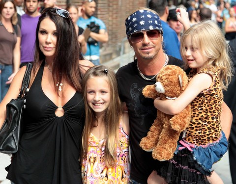 Bret Michaels Kristi Gibson and Family