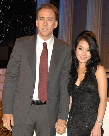 Nicholas Cage and Alice Kim