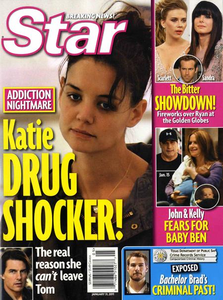 katie holmes star magazine cover