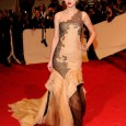 """Alexander McQueen: Savage Beauty"" Costume Institute Gala at The Metropolitan Museum of Art Taylor Swift attended the 2011 MET Ball wearing a beautiful J. Mandel couture gown and Christian Louboutin..."