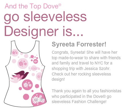 Dove Go Sleeveless Fashion Challenge