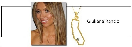 Maya Brenner State Necklace as Seen On Giuliana Rancic