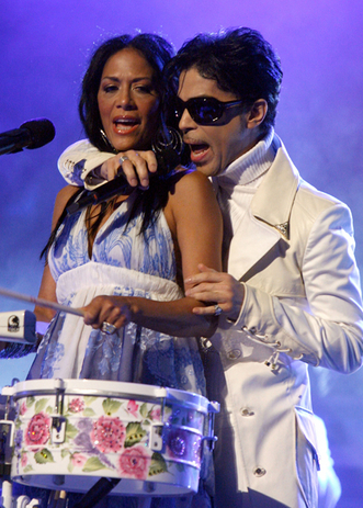 Sheila E and Prince Performing