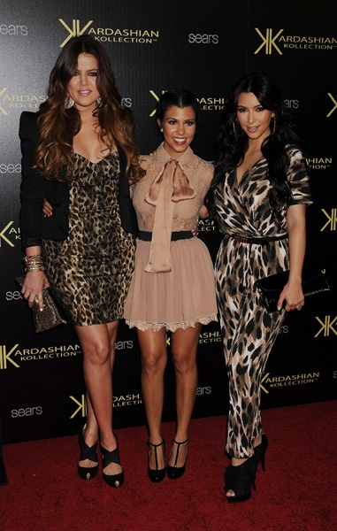 Khloe Kardashian Kourtney Kardashian and Kim Kardashian at Kardashian Kollection Launch
