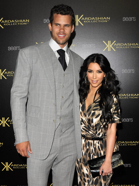 Kim Kardashian and Kris Humphries at Kardashian Kollection Launch Party