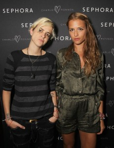 Samantha Ronson and Charlotte Ronson Twins