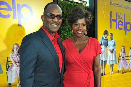 Viola Davis and Julius Tennon at Help Premiere