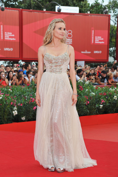 Diane Kruger Dress at The Ides Of March premiere at Venice Film Festival