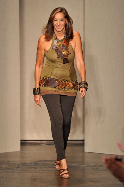 Donna Karen on NYFW Runway