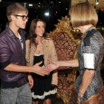 Justin Bieber meets Anna Wintour, Editor and Chief of American Vogue, at Dolce & Gabbana NYC during Fashion's Night Out, September 8, 2011.