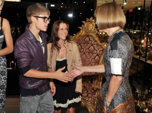 Justin Bieber and Anna Wintour