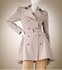 Jennifer Lopez Shirred Trench