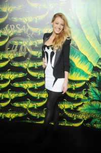 Blake Lively at Versace for H and M Fashion event