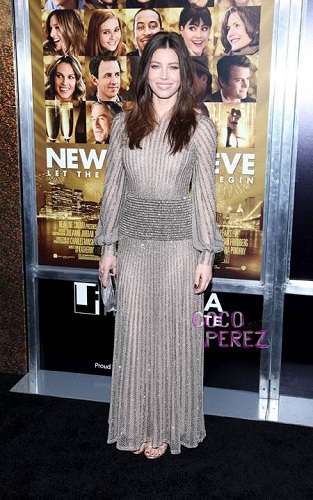 Jessica Biel at New Years Eve Premiere