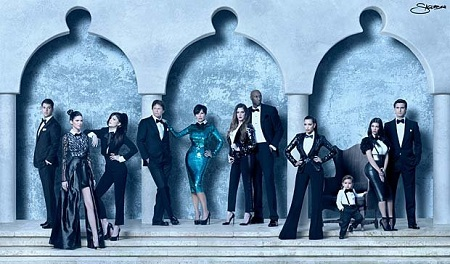 Kardashian Holiday Family Portrait