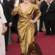 "Meryl Streep arrives to the 84th Academy Awards wearing an eco-friendly gown by Lanvin and her ""good luck charm"" paired with shoes by Ferragamo. Meryl graciously accepted the ""Best Actress""..."