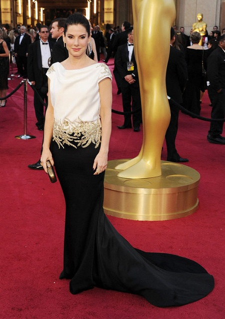 Sandra Bullock Oscars Red Carpet Dress