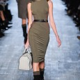 A mix of military glamour and athletics is the focus point of Victoria Beckham's fall collection. The designer used strong focused lines of pleats and collars to fashion together a...