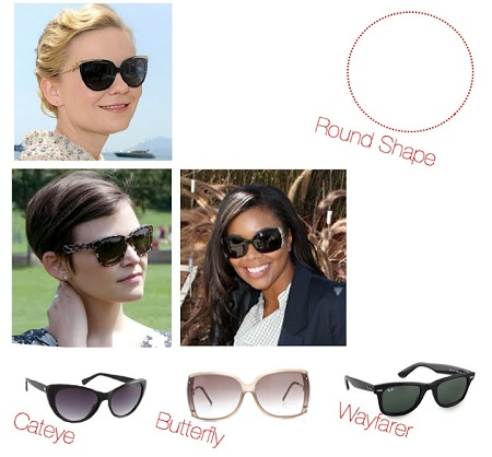 Flattering Glasses Frames For Round Faces : Sunglasses for Round Shape Faces
