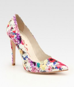Alice and Olivia Devon Floral Printed Patent Leather Pumps