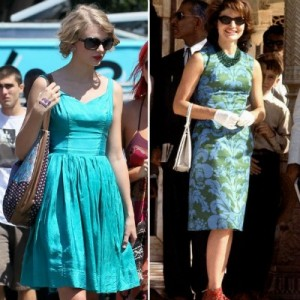 taylor swift and jackie o dresses