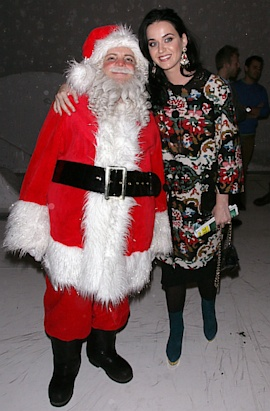 Katy Perry and Santa