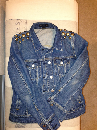 DIY Jean Jacket with Studs Spikes