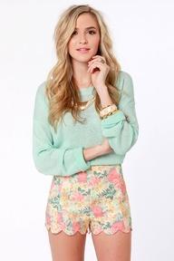 pastel colored shorts