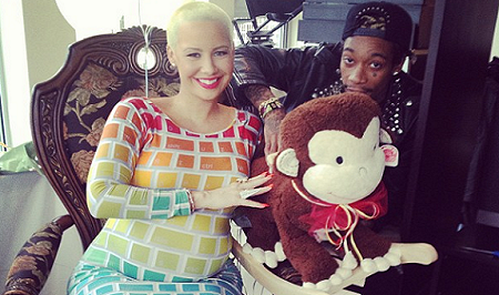 amber rose  and whiz baby shower